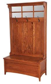 Hallway Seat And Coat Rack Shaker Hall Bench from DutchCrafters Amish Furniture 91