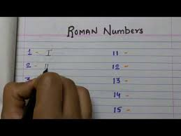 How To Write Roman Numbers From 1 To 100 Youtube