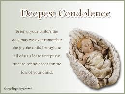 Condolences For The Loss Of A Child