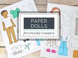 Use them to develop your child's drawing skills. Printable Paper Doll Templates Color And Play The Kitchen Table Classroom