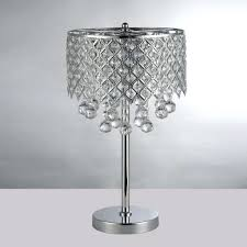 chandelier night stand lamp chrome round crystal chandelier bedroom nightstand table lamp led night light bedside