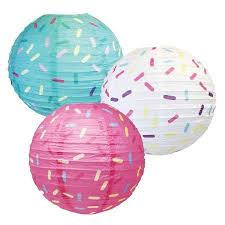 Party & Occasions   Hanging paper lanterns, Paper lanterns, Donut ...