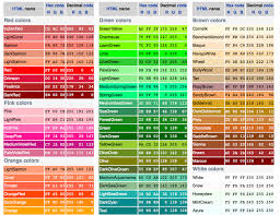 Colors Rgb Rgb Web Colors Color Web Colors Color Theory