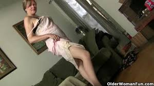 grannies are getting undressed and stroking twats