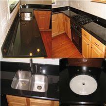 #marmorariapedrasil #cozinha #decor #designdeinteriores #granitopreto. Nero Absoluto Granito China Pure Black Granite Double Sink Countertops From China Stonecontact Com