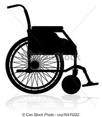 黒 車椅子 シルエット イラスト