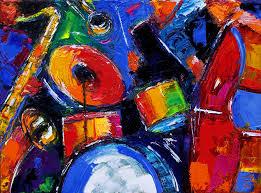abstract jazz painting art by debra hurd