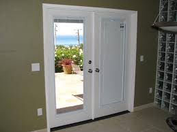 image of magnetic blinds for french doors glass