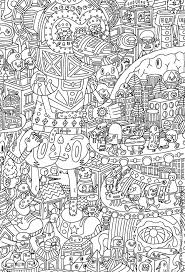 Free Doodle Coloring Page Coloring Adult