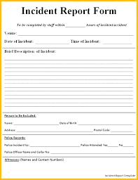 Test Incident Report Template Example Sample Stingerworld Co