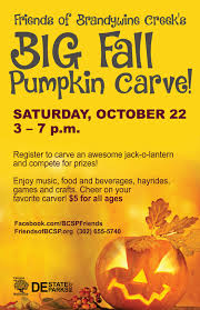 Pumpkin Carving Contest Flyers Pumpkin Carving Friends Of Brandywine Creek State Park