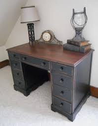 desk for lukas red gany by minwax for the top and then all surface enamel in stock black from sherwin williams