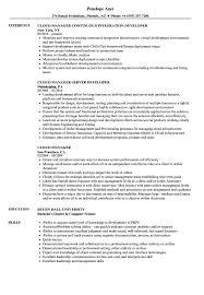 Cloud Manager Resume Samples Velvet Jobs
