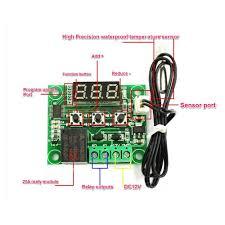 digital temperature controller circuit diagram electronics Incubator Thermostat Wiring Diagram w1209 high precision digital thermostat incubator temperature, circuit diagram incubator thermostat circuit diagram