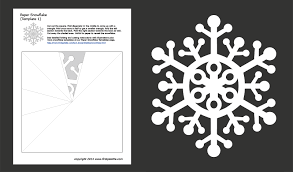 Cut Out Character Template Paper Snowflake Templates Free Printable Templates