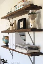diy office shelves. DIY Office Shelves By The Wood Grain Cottage Diy