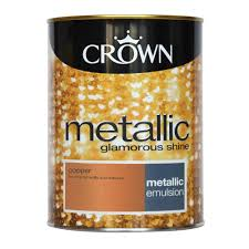 Crown Metallic Emulsion Paint Copper ...