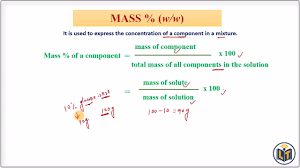 Concentration Of Solutions Concentration Of Solutions Mass Mass W W Youtube