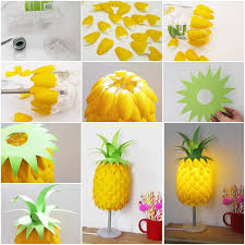 view in gallery pineapple lamp from plastic spoons simple diy pineapple lampshade made from spoons