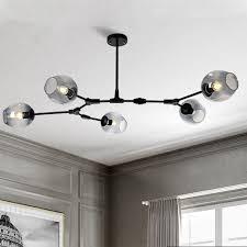 details about black chandelier lighting glass pendant light kitchen flush mount ceiling lights