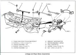 4th gen lt1 f body tech aids drawings exploded views wiper motor and linkage exploded view