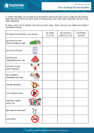 Health And Fitness Survey Questions Health Fitness Esl Activities Worksheets Games
