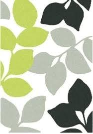 green leaf rug leaf pattern