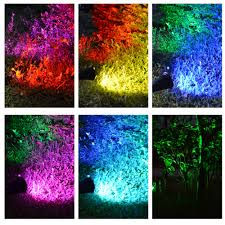 t sunrise 7 led solar spot light auto color changing outdoor lighting solar powered lamp landscape wall light for decoration in solar lamps from lights