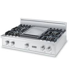 gas cooktop viking. Viking Professional 5 Series 36-Inch 4-Burner Natural Gas Rangetop With Griddle - Cooktop V