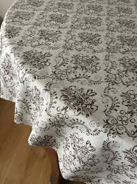round tablecloth oval tablecloth brown cotton fabric 70 inches 80 90 108 inches