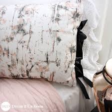 rose gold marble dorm bedding