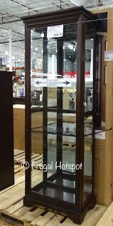 pulaski sliding door display cabinet