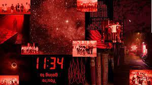 stray kids dark red aesthetic desktop ...