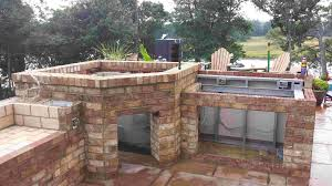 Outdoor Kitchens Outdoor Brick Kitchen Designs Backyard Designs With Pool And