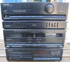 pioneer corporation. stereo twin cd cassette deck amplifier xd-z53t; pioneer corporation; (id \u003d corporation e