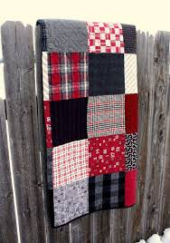 Flannel Quilt Patterns Inspiration Black And Red Plaid Flannel Quilt Quilts Pinterest Flannel