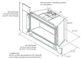 fireplace dimensions gas fireplace dimensions standard standard gas outdoor fireplace dimensions
