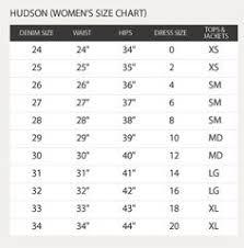 Hudson Size Chart 32 Best Denim Images In 2019 Denim Clothes Fashion