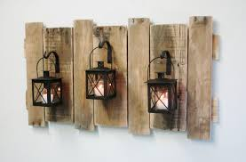 farmhouse style pallet wall decor with lanterns french country rustic decor shabby chic decor home decor fixer upper style large wall decor