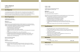 Veterinary Technician Resume Sample 11 Job Objective Work Experience