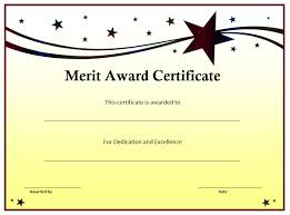 award certificates template merit award certificate template word templates