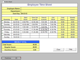 Time Sheet Excel Template Oyle Kalakaari Co