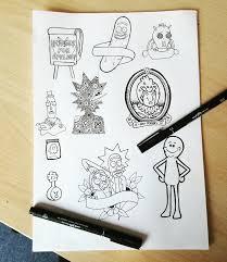 Rick And Morty Designs Rick And Morty Tattoos Designs Rickandmorty