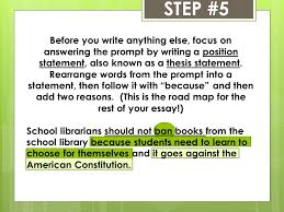 steps for writing a staar persuasive essay step the  step 5 before you write anything else focus on answering the prompt by writing