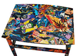 comic book furniture. Comic Book Table - Decoupaged In Authentic DC And Marvel Books. Pick A Size Furniture B