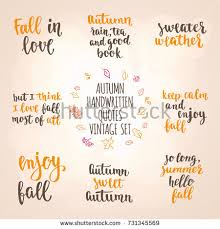 Fall Quotes Extraordinary Autumn Quotes Vintage Lettering Set Fall Stock Vector Royalty Free