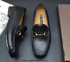 replica gucci 1953 horsebit shaded leather mens loafers black 307929 2017 high quality