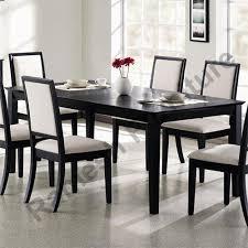 dark brown wooden dining table set