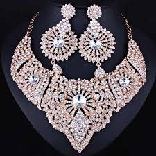 <b>FARLENA</b> Classic Indian Bridal <b>Necklace</b> Earrings and Frontlet set ...