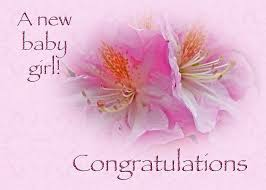 Congratulations New Baby Girl Azaleas Greeting Card For Sale By